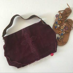 🔮Tylie Malibu ☥ Nubuck Suede Apache Bag ☥ Magenta